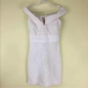 Misguided Dress SZ 4P Off Shoulder Geometric NEW